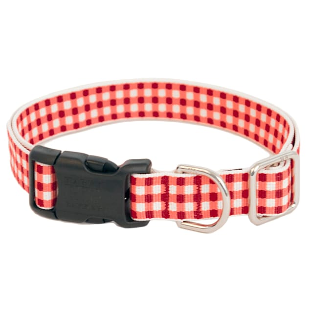 Harry Barker Red Gingham Dog Collar, Small - Carousel image #1