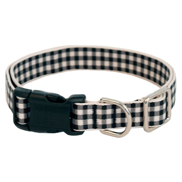 Harry Barker Black Gingham Dog Collar, Small - Carousel image #1