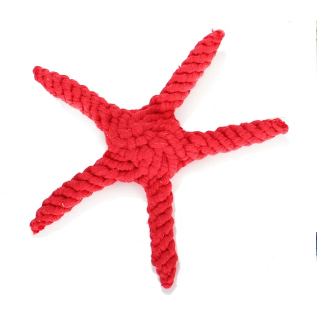 Harry Barker Red Rope Starfish Dog Toy, Small - Carousel image #1