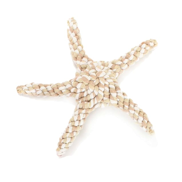 Harry Barker Tan Rope Starfish Dog Toy, Small - Carousel image #1