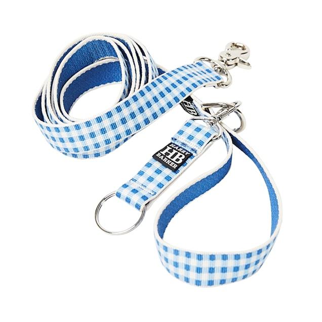 Harry Barker Blue Gingham Dog Leash, Medium, 6' ft. - Carousel image #1