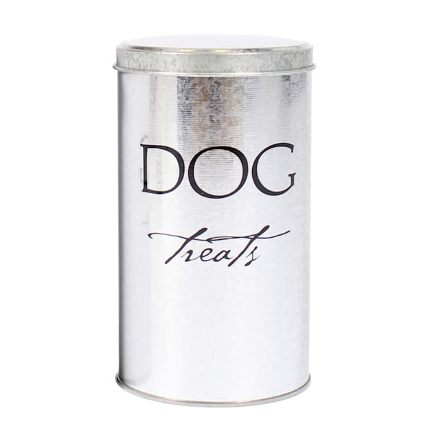 Harry Barker Silver Classic Treat Canister for Dogs - Carousel image #1