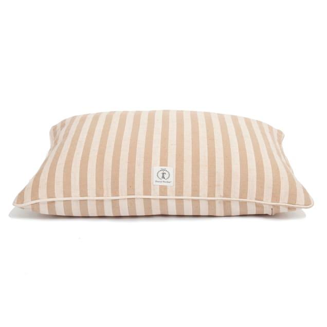 """Harry Barker Tan Vintage Stripe Envelope Dog Bed Cover, 30"""" L X 24"""" W - Carousel image #1"""