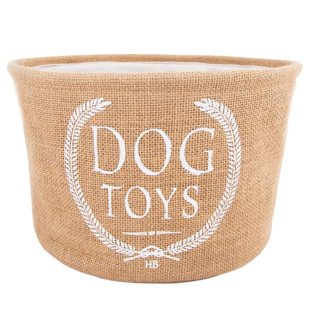Harry Barker Brown Classic Dog Toy Bin - Carousel image #1