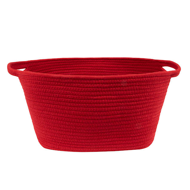 Harry Barker Red Cotton Rope Dog Toy Storage - Carousel image #1