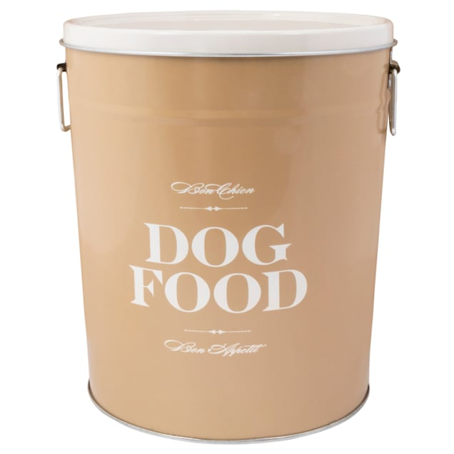 Harry Barker Taupe Bon Chien Food Storage Canister for Dogs, Small - Carousel image #1