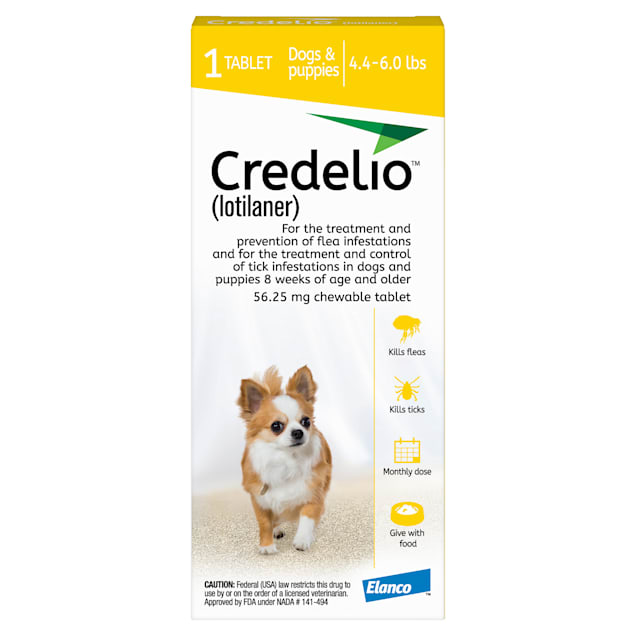 Credelio Chewable Tablet for Dogs 4.4-6 lbs, 1 Month Supply - Carousel image #1