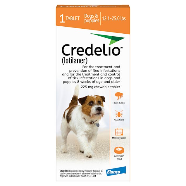 Credelio Chewable Tablets for Dogs 12.1-25 lbs, 1 Month Supply - Carousel image #1
