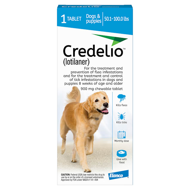 Credelio Chewable Tablet for Dogs 50.1-100 lbs, 1 Month Supply - Carousel image #1