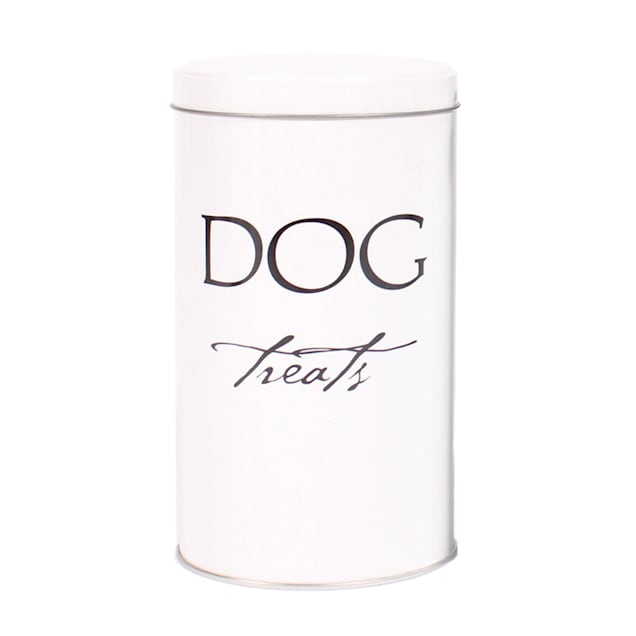 Harry Barker White Classic Treat Canister for Dogs - Carousel image #1