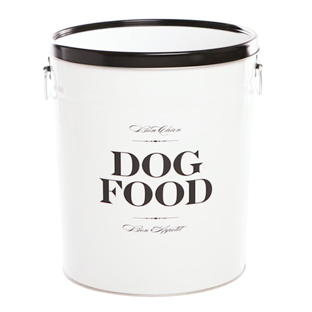 Harry Barker White Bon Chien Food Storage Canister for Dogs, Medium - Carousel image #1