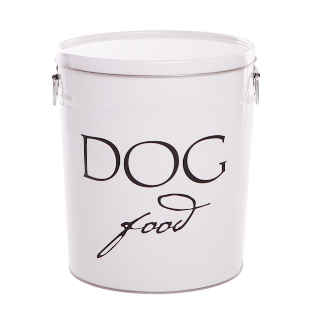 Harry Barker White Classic Food Storage Canister for Dogs, Small - Carousel image #1