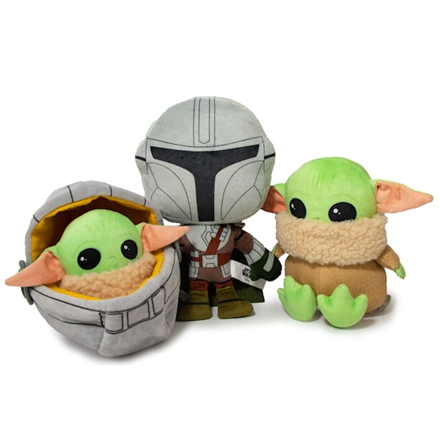 Buckle-Down Star Wars Mandalorian and The Child Plush Dog Toys, Medium, Pack of 3 - Carousel image #1