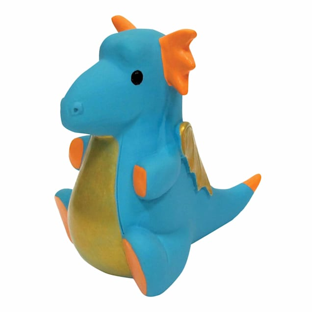 foufouBRANDS fouFIT Blue Dragon Chew Dog Toy - Carousel image #1