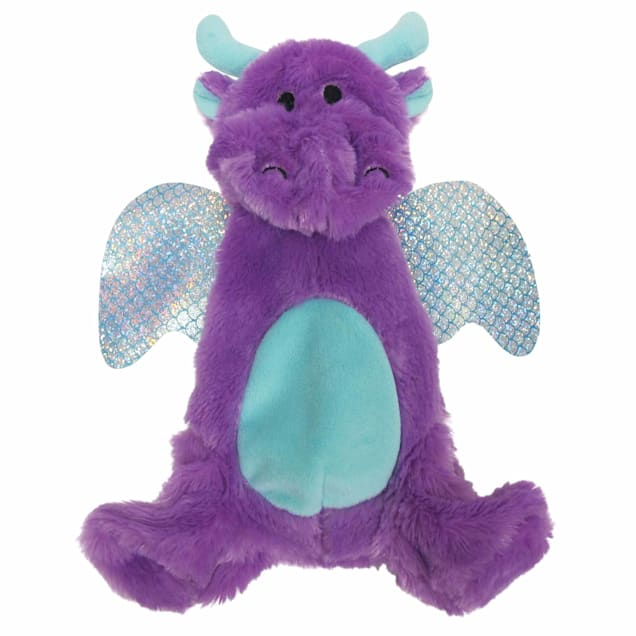 foufouBRANDS fouFIT Purple Stuffless Crinkle Dragon Dog Toy, Large - Carousel image #1
