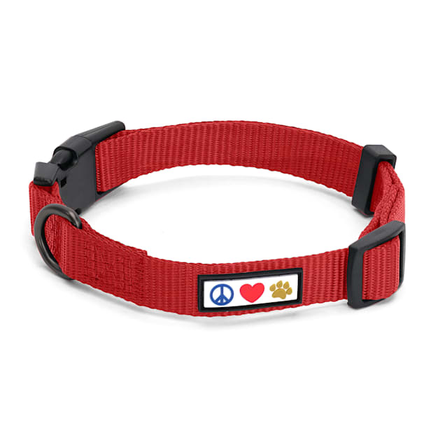 Pawtitas Solid Color Red Puppy or Dog Collar, X-Small - Carousel image #1