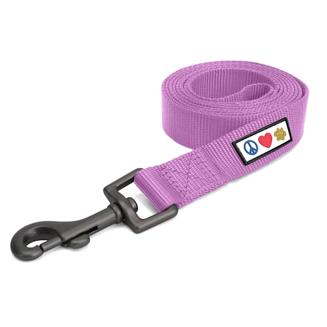 Pawtitas Solid Purple Orchid Puppy or Dog Leash, Large, 6 ft. - Carousel image #1