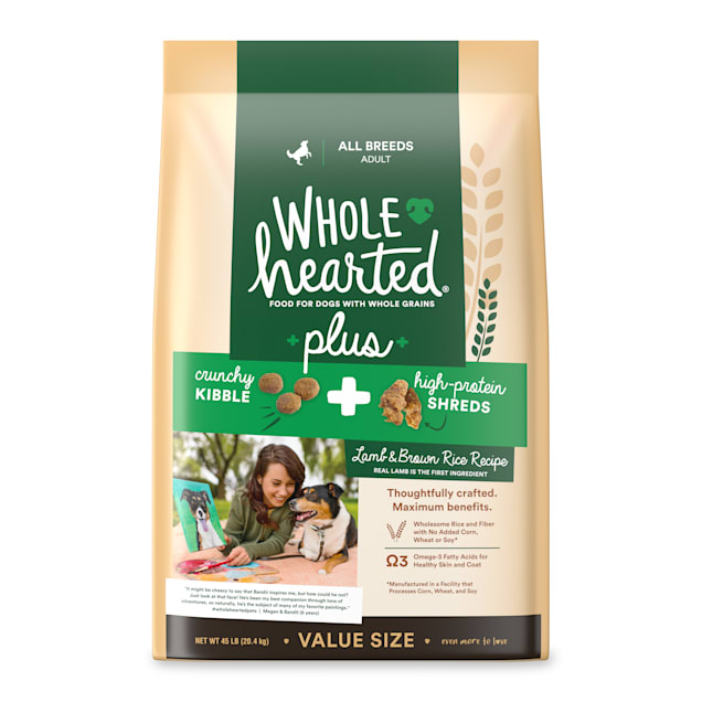 WholeHearted Plus Lamb & Brown Rice Recipe with Whole Grains Dry Dog Food, 45 lbs. - Carousel image #1