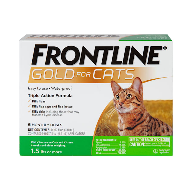 FRONTLINE Gold Flea & Tick Treatment for Cats, Pack of 6 - Carousel image #1