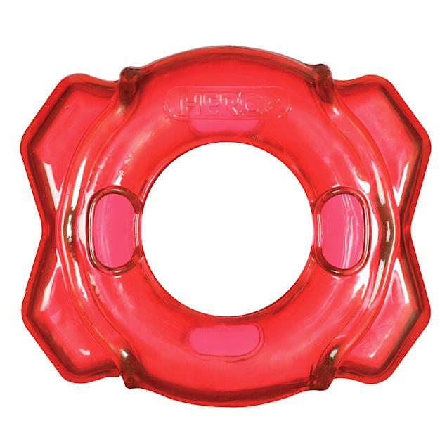 Hero Treat N Play Red Foraging Ring Dog Toy, Large - Carousel image #1