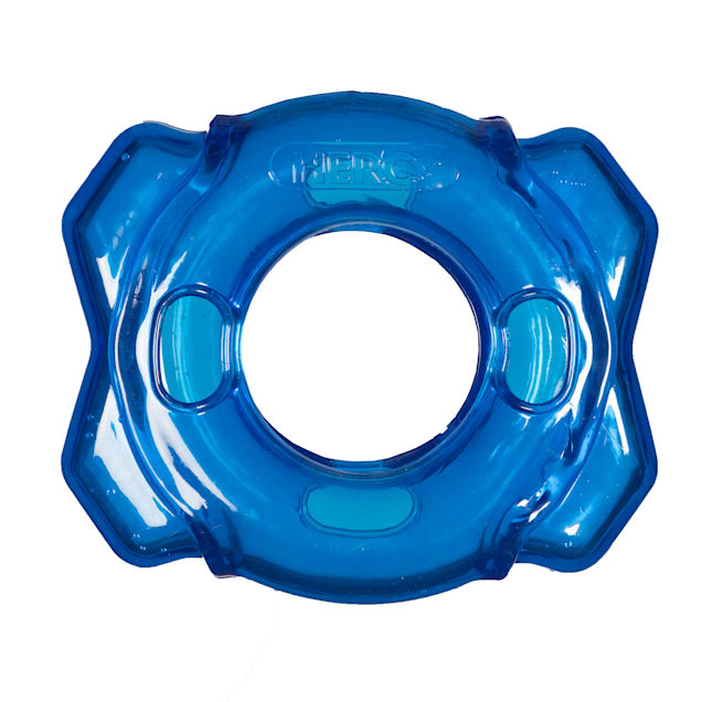Hero Treat N Play Blue Foraging Ring Dog Toy, Medium - Carousel image #1