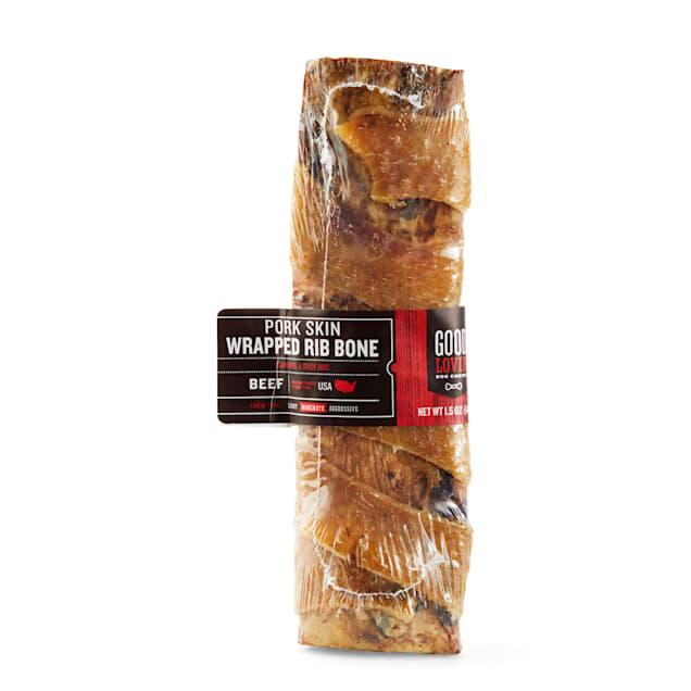 Good Lovin' Pork Skin-wrapped Rib Bone Dog Chew, 1.5 oz. - Carousel image #1