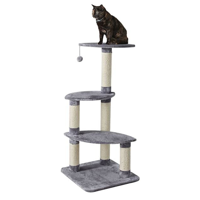 """Two by Two Cypress 4 Level Large Cat Tree, 19.7"""" L X 19.7"""" W X 41.7"""" H - Carousel image #1"""