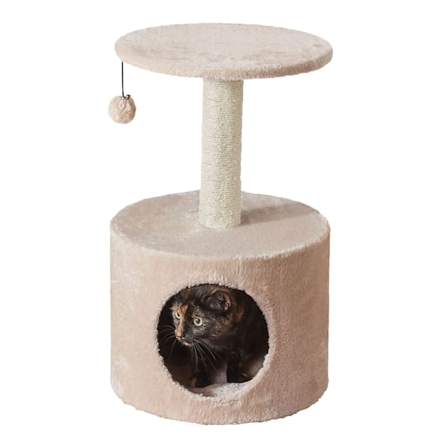 """Two by Two Birch 2 Level Small Cat Tree With Condo, 15"""" L X 15"""" W X 23.6"""" H - Carousel image #1"""