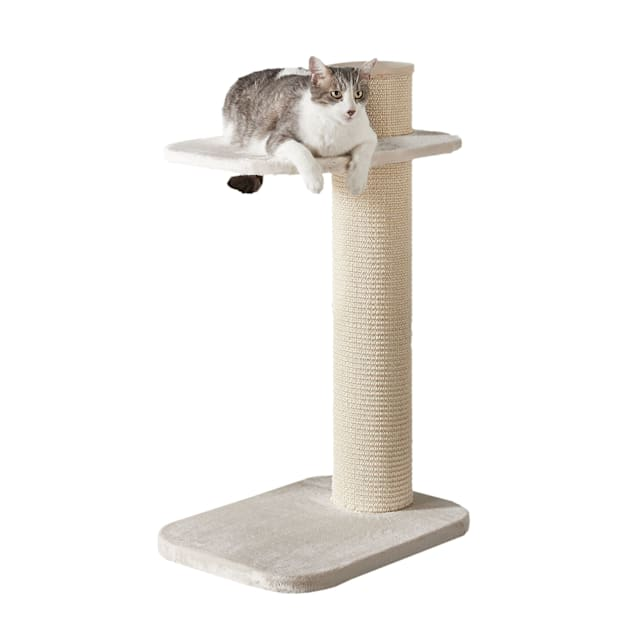 """Two by Two Maple 2 Level Beige Cat Tree, 23.23"""" L X 17.7"""" W X 38.19"""" H - Carousel image #1"""