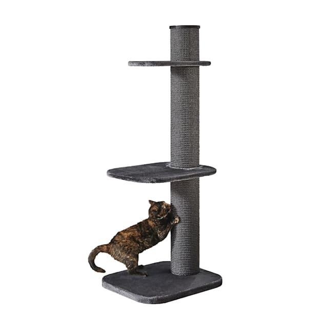 """Two by Two Maple 3 Level Grey Cat Tree, 23.2"""" L X 24"""" W X 58.3"""" H - Carousel image #1"""