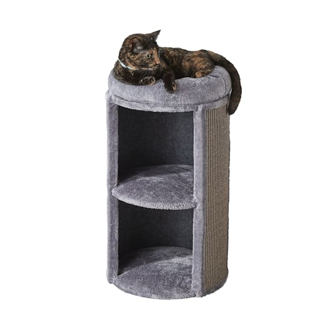 """Two by Two Juniper 2 Level Cat Condo, 15"""" L X 15"""" W X 25.6"""" H - Carousel image #1"""
