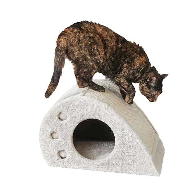 """Two by Two Magnolia Compact Cat Toy Condo and Scratching Station, 18.9"""" L X 11.8"""" W X 11.8"""" H - Carousel image #1"""