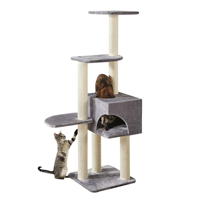 """Two by Two Spruce 4 Level Cat Condo and Tree, 17"""" L X 17"""" W X 54.3"""" H - Carousel image #1"""