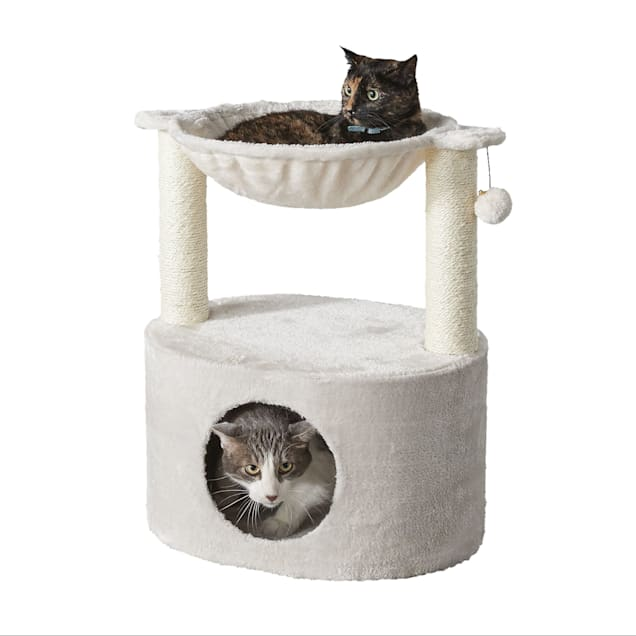 """Two by Two Hammock Combo Holly Cat Tree Condo, 19.7"""" L X 15.7"""" W X 23.6"""" H - Carousel image #1"""