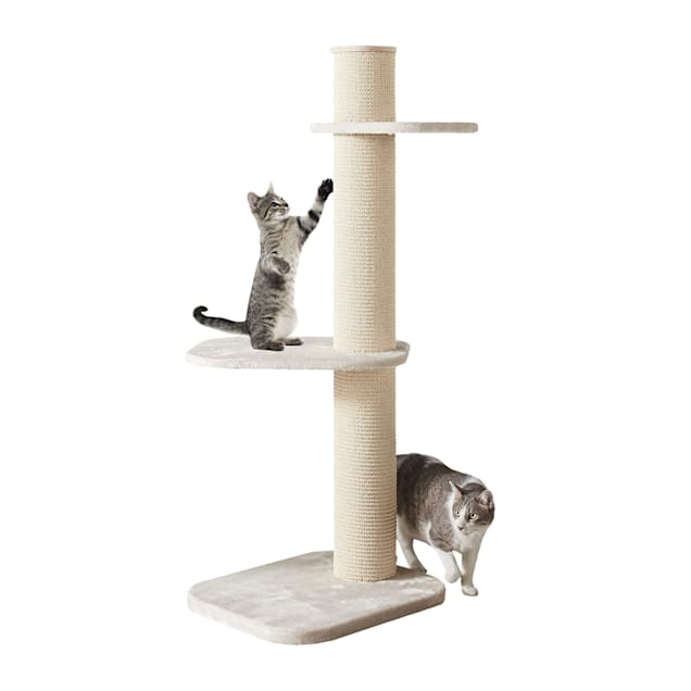 """Two by Two Maple 3 Level Beige Cat Tree, 23.2"""" L X 24"""" W X 58.3"""" H - Carousel image #1"""