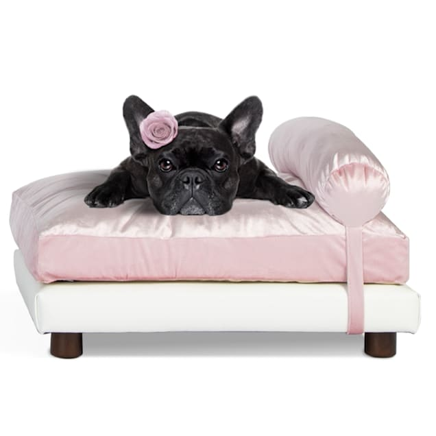 "Club Nine Pets Pink Milo Orthopedic Dog Bed, 16"" L X 18"" W - Carousel image #1"