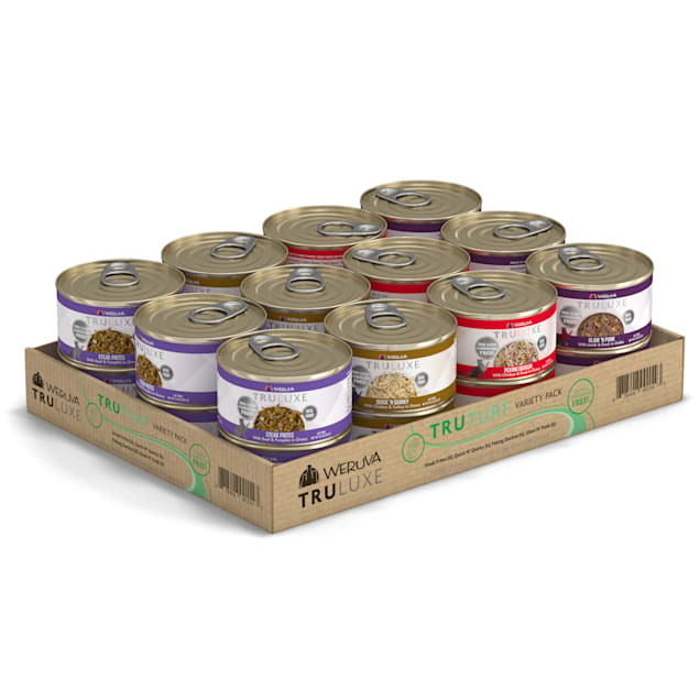 Weruva TruLuxe TruTurf Variety Pack Wet Cat Food, 3 oz., Count of 24 - Carousel image #1