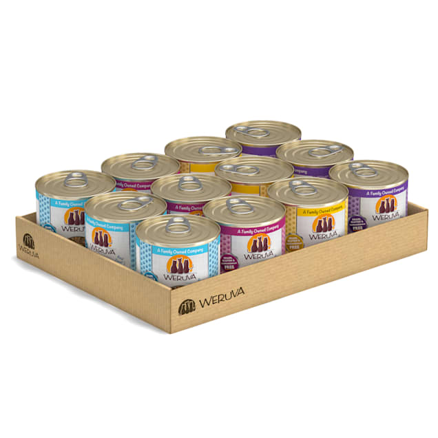 Weruva Classics The 10 Ounce Pounce Variety Pack Wet Cat Food, 10 oz., Count of 12 - Carousel image #1