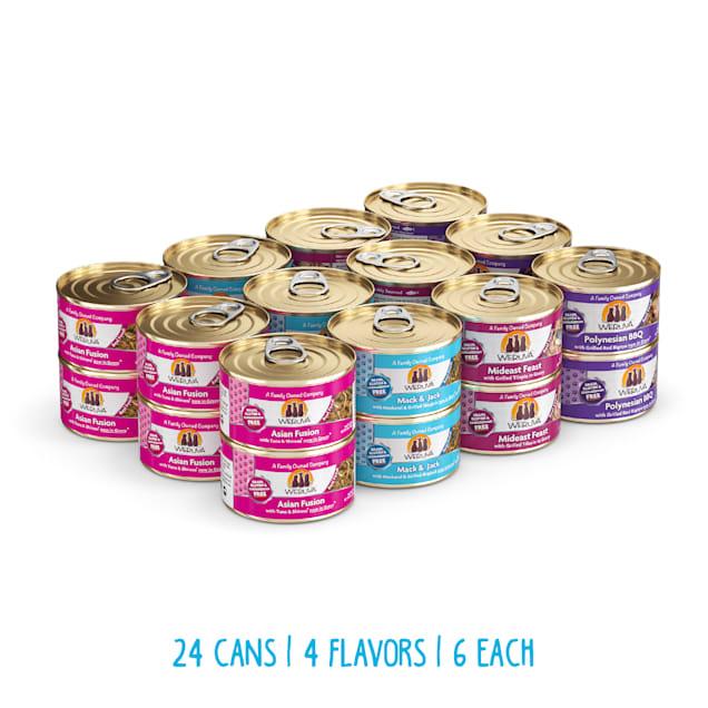 Weruva Classics Frisky Fishin' Friends Variety Pack Wet Cat Food, 3 oz., Count of 24 - Carousel image #1