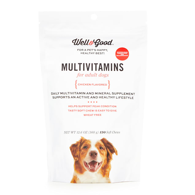 Well & Good Adult Dog Multivitamins Soft Chews, Count of 120 - Carousel image #1