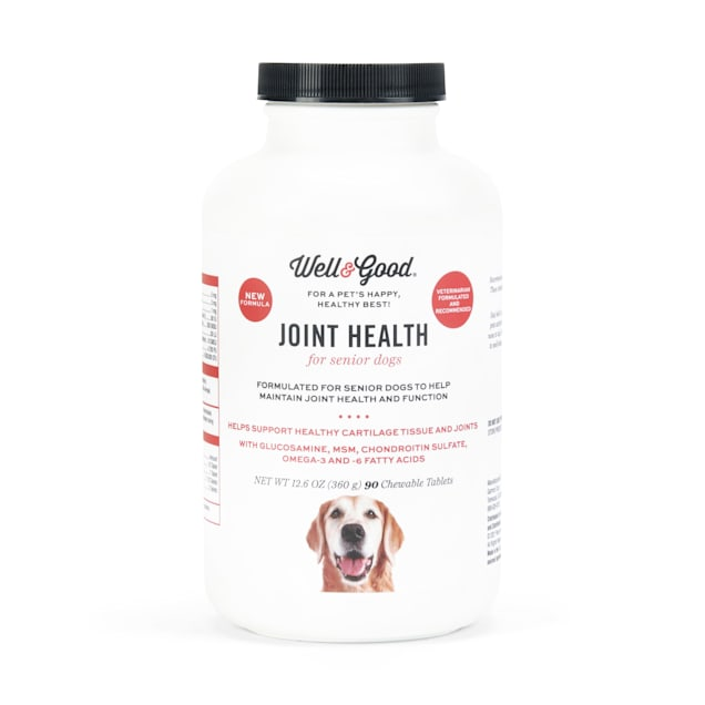 Well & Good Senior Dog Joint Support Chewable Tablets, Count of 90 - Carousel image #1