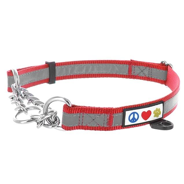 Pawtitas Red Chain Martingale Dog Collar, Medium - Carousel image #1