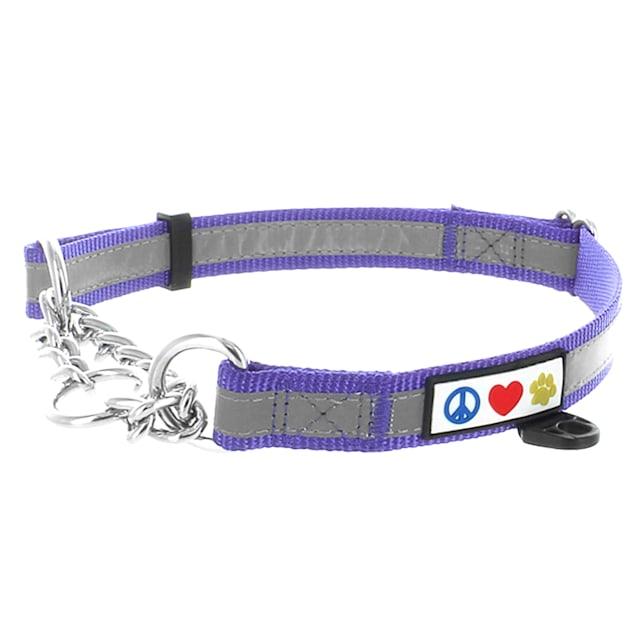 Pawtitas Purple Chain Martingale Dog Collar, Medium - Carousel image #1