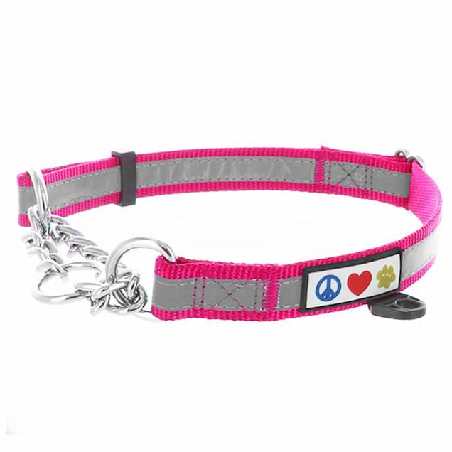 Pawtitas Pink Chain Martingale Dog Collar, Medium - Carousel image #1