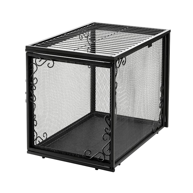"Richell Black Metal Mesh Pet Crate, 21"" L X 30"" W X 24"" H - Carousel image #1"