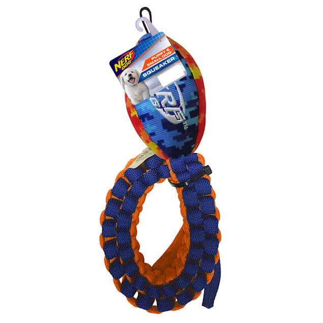 Nerf Nylon Digital Camo Squeak Vortex Chain Tug Coiled Dog Toy, Medium - Carousel image #1