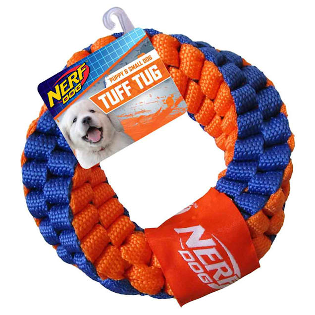 Nerf Nylon Round Braided Double Layered Rope Ring Dog Toy, Medium - Carousel image #1