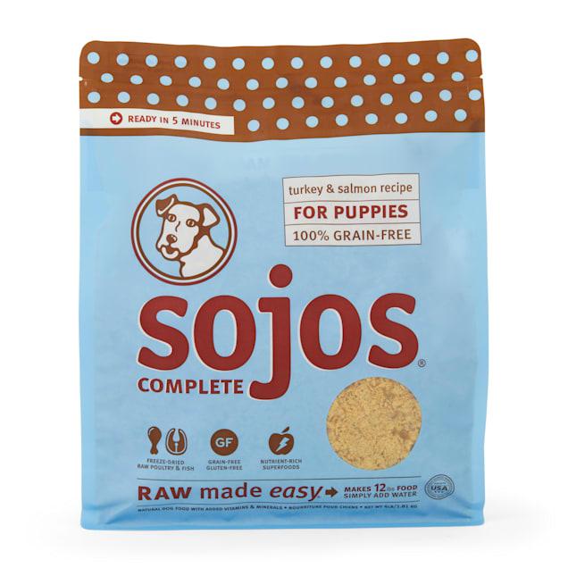 Sojos Complete Grain & Gluten Free Puppy Turkey & Salmon Recipe Freeze Dried Raw Dog Food, 4 lbs. - Carousel image #1