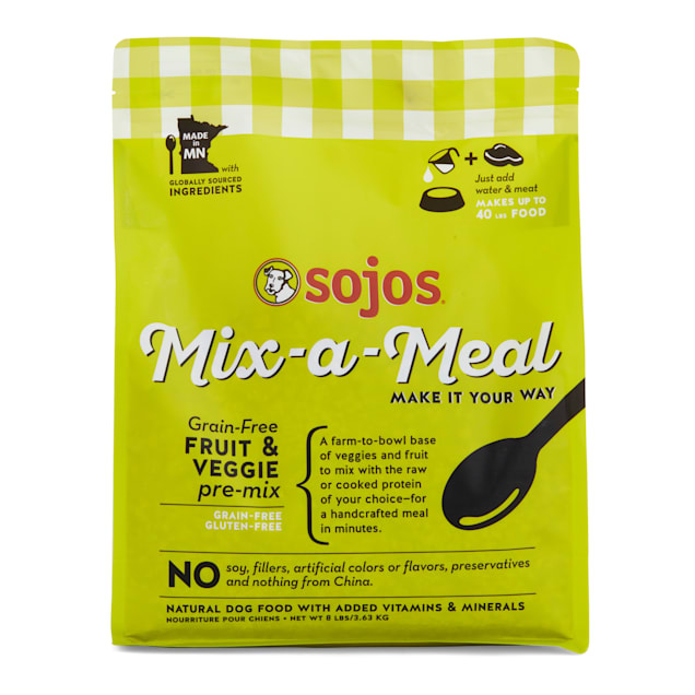 Sojos Mix-A-Meal Grain-Free Fruit & Veggie Pre-Mix Dry Dog Food, 8 lbs. - Carousel image #1