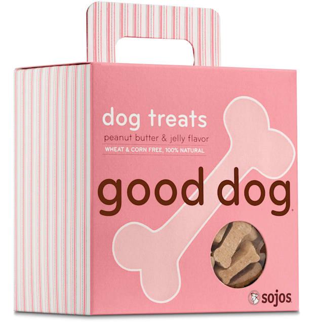 Sojos Good Dog Peanut Butter & Jelly Flavor Dog Treats, 8 oz. - Carousel image #1